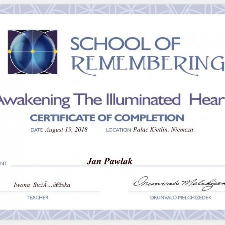 Certyfikat School of remembering